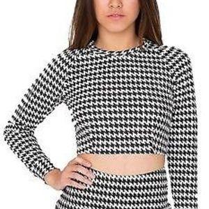 American Apparel Houndstooth Crop Raglan Sweater